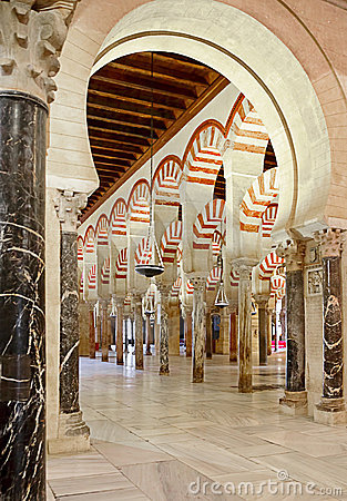 Inside the Mezquita of Cordoba, Spain