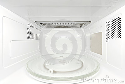 Inside microwave oven - frontal view