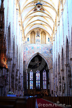 Inside the Minster of Ulm