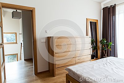 Inside modern bedroom