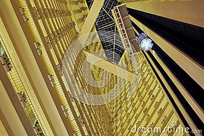 Inside a modern hotel