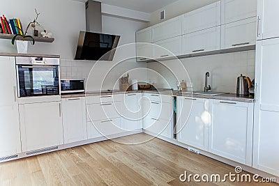 Inside modern kitchen
