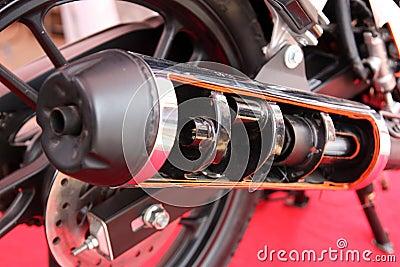 Red muffler 3d - 4 6