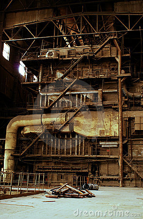Free Inside Of Abandoned Old Rusty Industrial Plant Royalty Free Stock Photos - 6303398