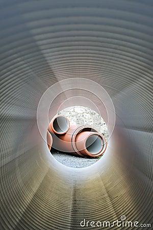 Free Inside Of Plumbing Tube Stock Photography - 9923812