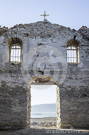 Free Inside Of Ruined Rural Church In  Dam Jrebchevo, Bulgaria Royalty Free Stock Images - 65259779