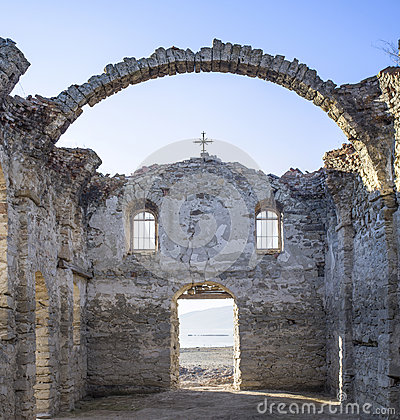 Free Inside Of Ruined Rural Church In  Dam Jrebchevo, Bulgaria Stock Photo - 65261320