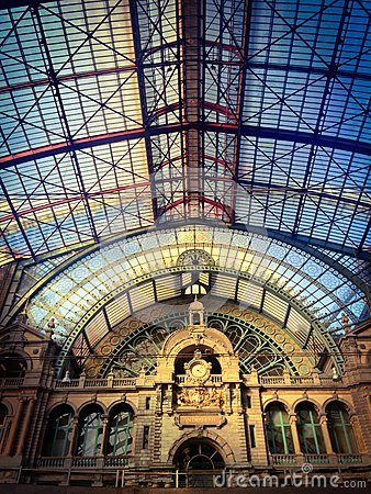 Free Inside Of The Antwerp Central Trainstation Stock Images - 61067764