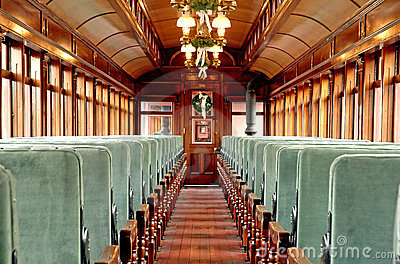 Inside An Old Passenger Rail Car Royalty Free Stock Photo ...