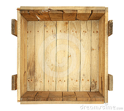 Inside old wooden box