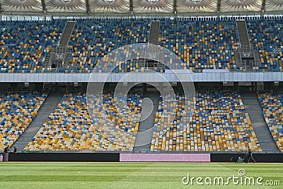 Inside the Olympic Stadium in Kiev
