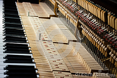 Inside of the piano