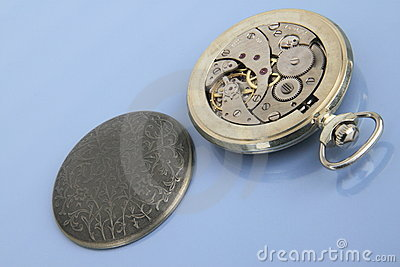 Inside of pocket watch.