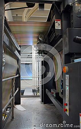 Inside printing press