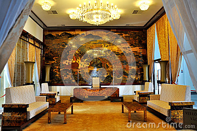 Inside of The Reunification Palace Editorial Stock Photo