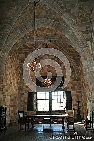 Inside rhodes castle