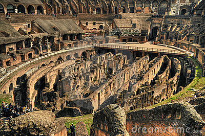 Inside the Rome Colosseum