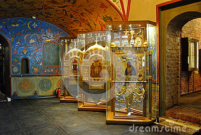 Inside of Saint Basil s Cathedral Editorial Image