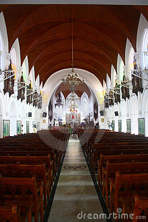Inside of Santhome Basilica Church at India Editorial Image