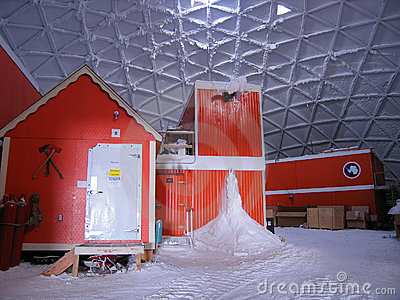 Inside the South Pole Dome