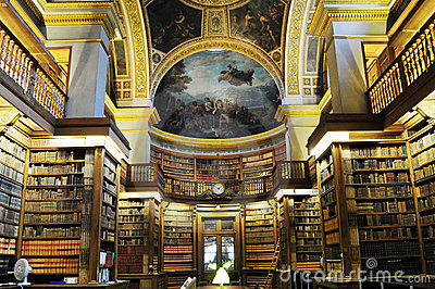 Inside Splendid  library in France Prime Mini Editorial Stock Image
