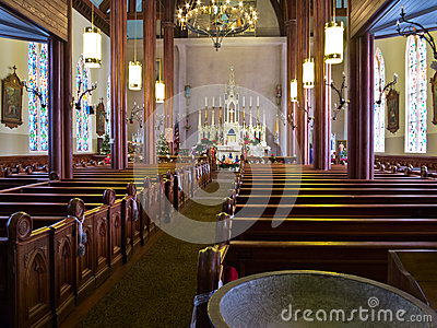 Inside St. Marys in the Mountains, Virginia City,