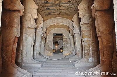 Inside the temple of Abu Simbel