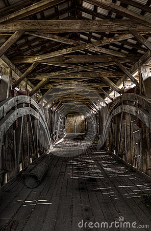 Free Inside The Covered Bridge Royalty Free Stock Photo - 22511725