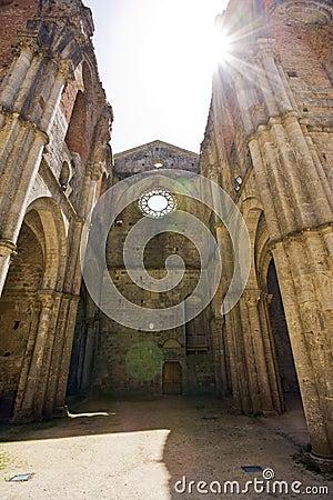 Free Inside The Roofless Abbey Of San Galgano, Tuscany Stock Photo - 15784490