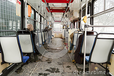 Inside tram. Editorial Photo