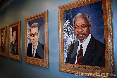 Inside the UN Building. New York City Editorial Stock Image