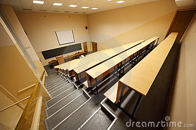 Inside university lecture hall