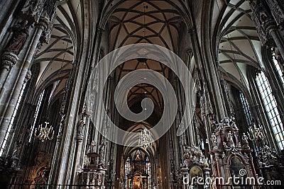 Inside Vienna Cathedral,Austria