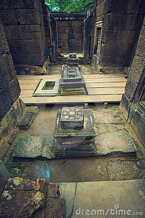 Inside view of  Banteay Srey.Cambodia