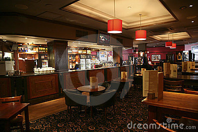Inside view of a english pub Editorial Image