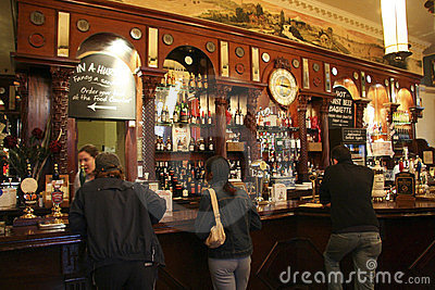 Inside view of a english pub Editorial Photo