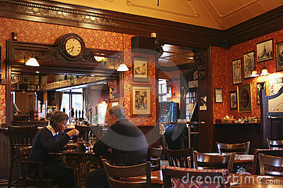 Inside View Of A English Pub Stock Photo - Image: 23873420