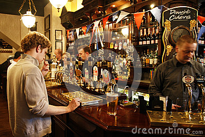 Inside view of a English pub Editorial Stock Photo