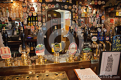 Inside view of a english pub Editorial Stock Image