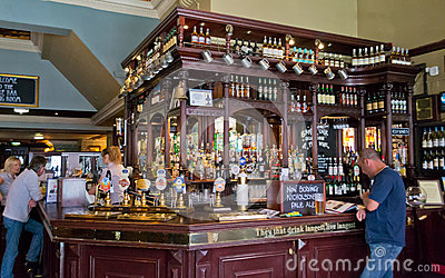 Inside view of a Scottish pub Editorial Photography