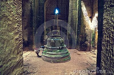Inside view of Ta Som temple. Angkor Wat