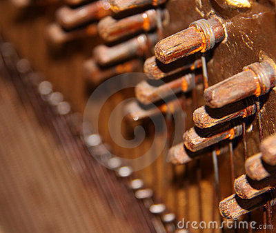 Inside a Vintage Upright Piano
