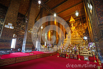Inside Wat Pho temple