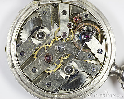 Inside of watch