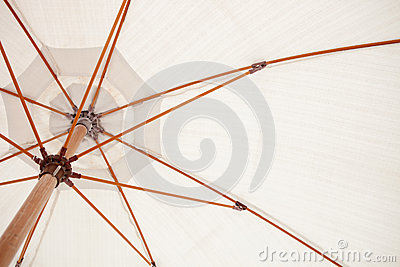 Inside of a white parasol
