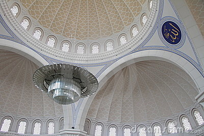 Inside Wilayah Mosque 1 Royalty Free Stock Photo - Image: 15387425