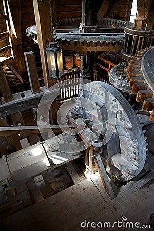 Inside of the windmill, Zaanse Schans, Holland
