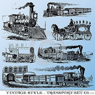 Insieme antico di trasporto