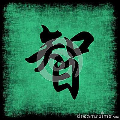 Insieme cinese di calligrafia di saggezza
