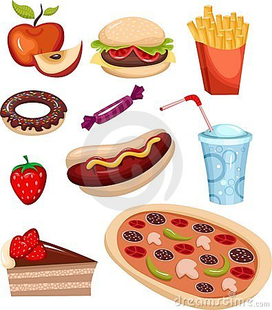 Insieme degli alimenti a rapida preparazione